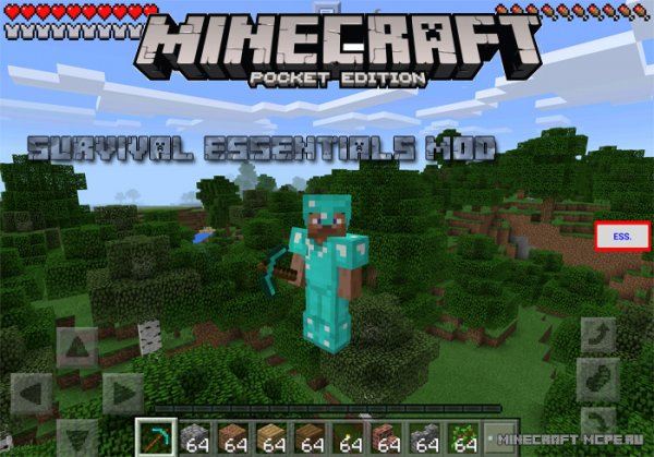 Мод Survival Essentials Mod MCPE 0.15.2/0.15.1