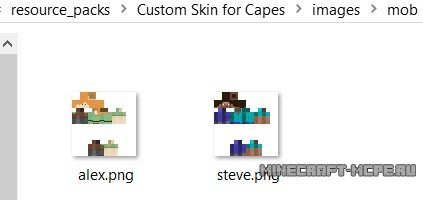 Текстуры Custom Skin for Capes 0.16.0/0.15.9/0.15.8