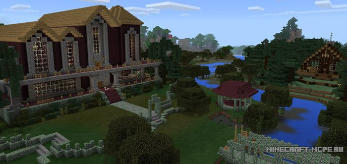 Карта Mansion Village MCPE
