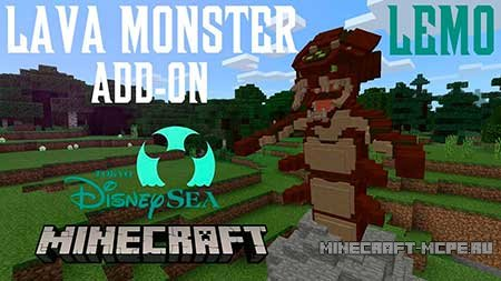 Мод Lava Monster Boss для Minecraft PE 1.2.*